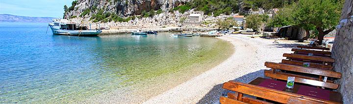 Pláže Hvar - severní zátoky