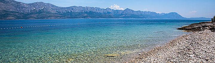 Pláž Bilina, Sućuraj, ostrov Hvar