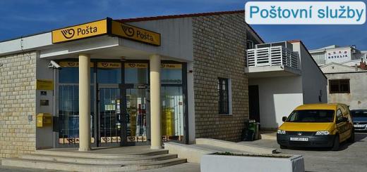 Pošty a poštovní služby